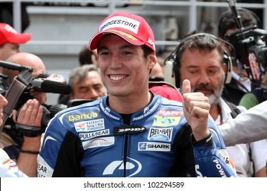 ESTORIL, PORTUGAL - MAY 6: Aleix Espargaro after the race at 2012 MotoGP of Portugal in Estoril on May 6, 2012