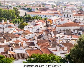 Estremoz, Portugal – August 23, 2018: Panoramic view of Estremoz in Alentejo region, Portugal.