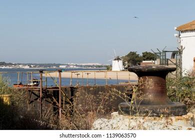 Estuary mills landscape dock view