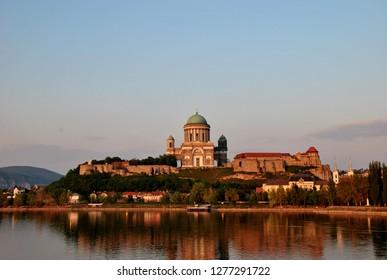 Esztergom Basilica on the Danube river.