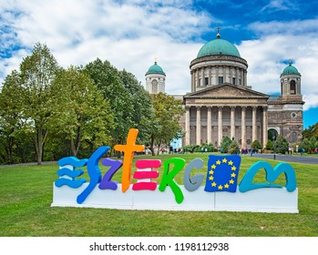 ESZTERGOM, HUNGARY - 29 SETPEMBER, 2018: View on the famous Basilica of Esztergom in Esztergom, Hungary.
