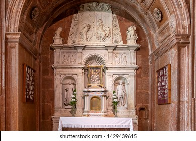 Esztergom, Hungary - May 26, 2019 : View of the bakócz chapel (annunciation chapel) inside Esztergom Basilica. Primatial Basilica of the Blessed Virgin Mary Assumed to Heaven and St Adalbert.