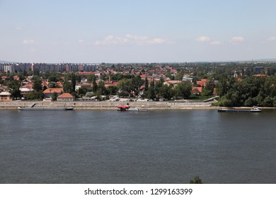 Esztergom / Hungary - May 5, 2011: View of the Danube River and Slovenia from Esztergom Castle.