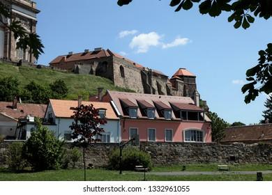 Esztergom / Hungary - May 5, 2011: Esztergom Castle.