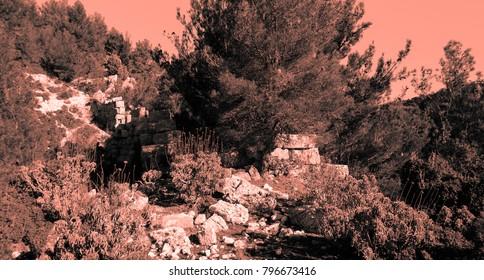Etenna ruins. Pamphilya. Turkey