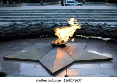 eternal flame burns