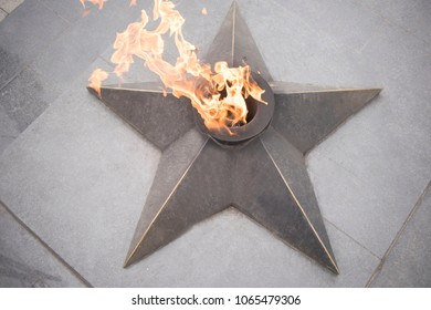 eternal flame on the street