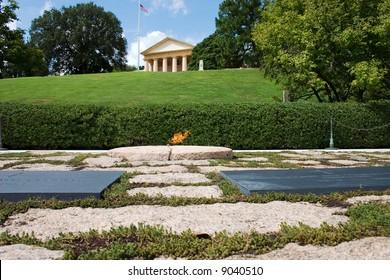 Eternal flame over JFK's grave