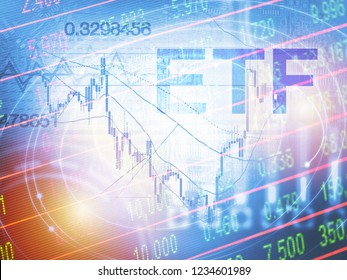 ETF - Exchange Traded Fund. Trade Market ICO IPO Financial Technology Business Investment Konzept.