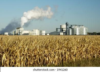 Eine Ethanol-Produktionsanlage in South Dakota.