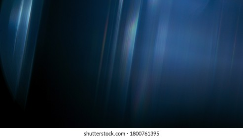 Ethereal Rainbow Flares. Prism Rainbow Light Flares Overlay on Black Background