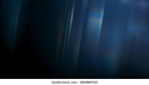 Ethereal Rainbow Flares Prism Rainbow Light Flares Overlay on Black Background