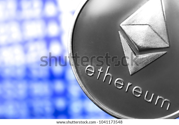 ethereum coin on chart background