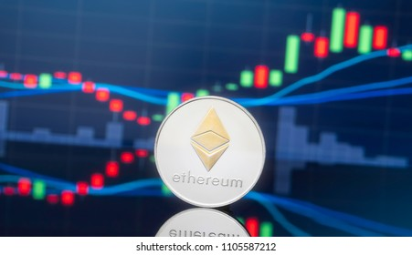 Ethereum (ETH) and cryptocurrency investing concept.
