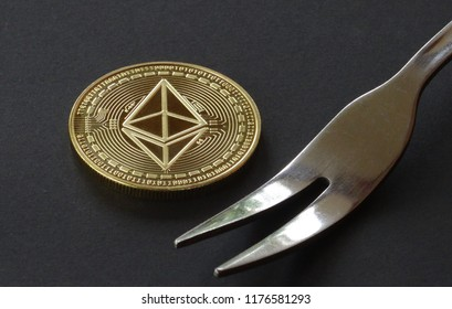ethereum fork, crypto curreny coins, digital money, blockchain