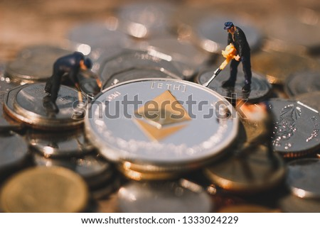 Ethereum Mining Mine ETH On Your Stock Photo (Edit Now) 1333024229