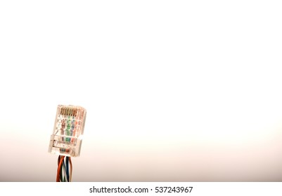 Ethernet Patch Cable on isolated white