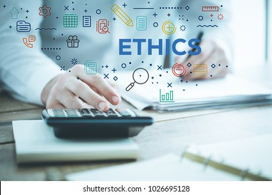 ETHICS AND FINANCE CONCEPT