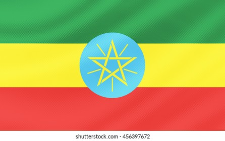 Ethiopia country flag - 3D illustration.
