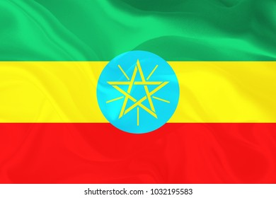 Ethiopia Fabric flag background