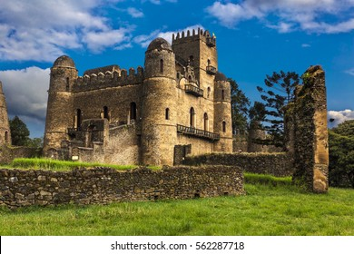 Ethiopia, Gondar (Gonder). Royal Enclosure (Fasil Ghebbi) - Fasilides castle (Fasil Gemb). Royal Enclosure is on UNESCO World Heritage List