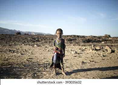 Ethiopia, Jigjiga 2016 March: A girl from the south of Ethiopia.Water bottle in her hand.