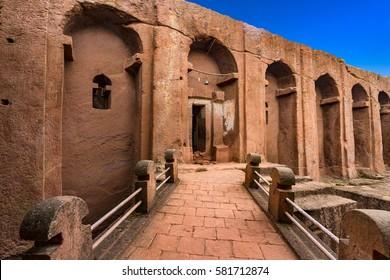 Ethiopia, Lalibela. Bet Mercurios Church. The churches of Lalibela is on UNESCO World Heritage List