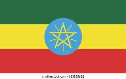 Ethiopia national flag background