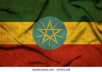Ethiopia waving flag