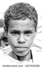 ETHIOPIA,LALIBELA-CIRCA  JANUARY 2018--unidentified  young boy in the genna celebration