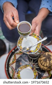 Ethiopian coffee ceremony at eastern
