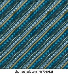 Ethnic abstract seamless pattern. Tribal art boho print, border ornament. Background texture, decoration