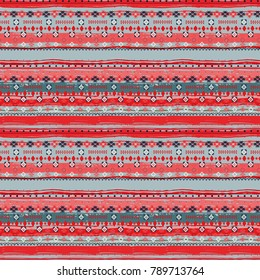 Ethnic. Boho seamless pattern. Tribal art. Ethno ornament. African background texture. Ethnicity distressed print