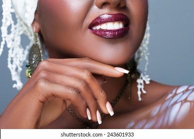Ethnic closeup