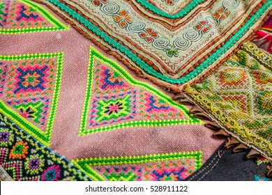 Ethnic fabric with seamless colourful.Seamless colorful aztec pattern.