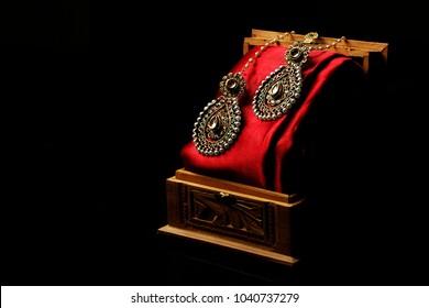 ethnic indian earrings - kerala & north indian