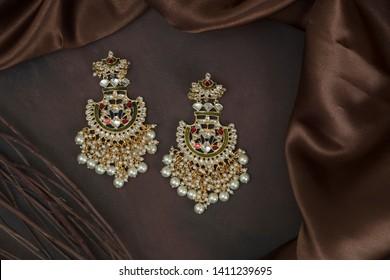 ethnic indian jewellery in studio lighting