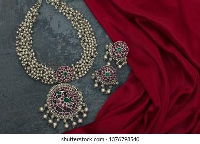 ethnic jewellery in studio lighting