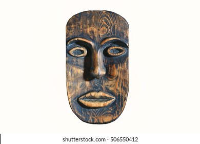 ethnic mask of wood