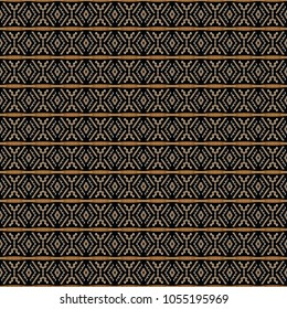 Ethnic pattern in the style of African tribes, Australian aborigines, American Indians. Seamless background for print on fabric, surface, paper, wrapping