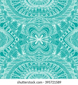 Ethnic seamless pattern in oriental indian style. Mehndi henna design for textile, cards, background, wrapping paper, packing.