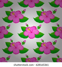 Ethnic towel, henna style. Can be used for greeting business card background, backdrop, textile. Indian floral hibiscus flowers pattern. Seamless ornament print on a white background.