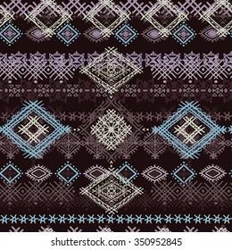Ethnic tribal art seamless pattern. Boho print. Ethno ornament. Cloth design, wallpaper, wrapping