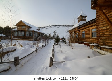 the ethnographic complex Chochur Muran for tourists in Yakutsk, Republic of Sakha (Yakutia)/Russia
