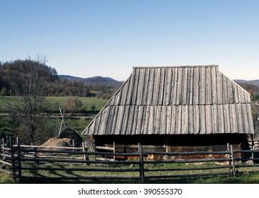 Ethno-village Sirogojno (the Old Village Museum), Zlatibor mountain, Serbia.