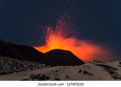 Etna eruption 15 December