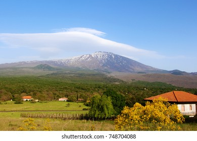 etna volcano on the island of Sicily