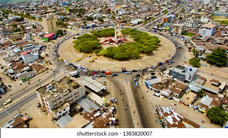 """""""Etoile rouge"""" which is in central of cotonou, the capital of Benin located in west africa."""