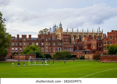 Eton College is independent boarding school for boys.It was founded by King Henry VI it's one of the most prestigious schools in the world.Eton close to Windsor England  03/10/2020 England.