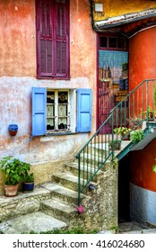 Etrance of a House in Coaraze, Provence, France